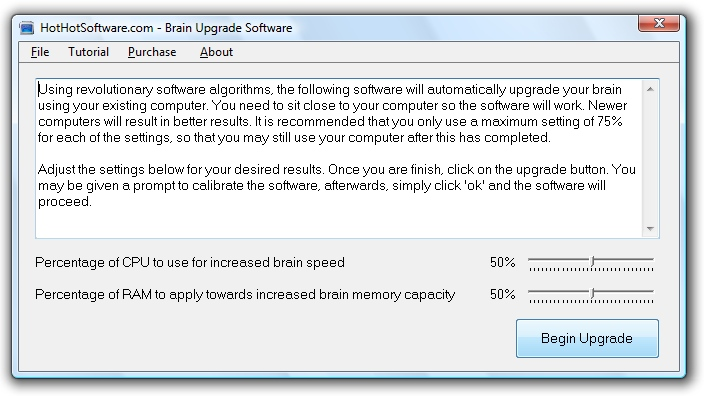 Buy Brain Upgrade software to upgrade your brain c 9.0