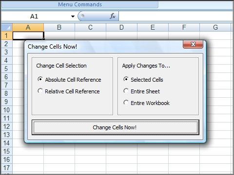 how to set an absolute cell reference in excel