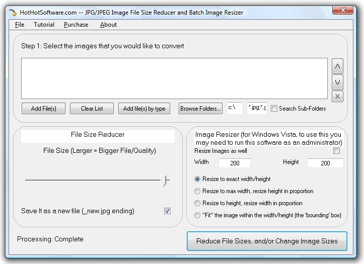 Download JPG JPEG Image File Size Reducer and Batch Image