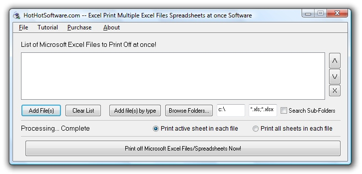 Excel Print Multiple Excel Files Spreadsheets at once