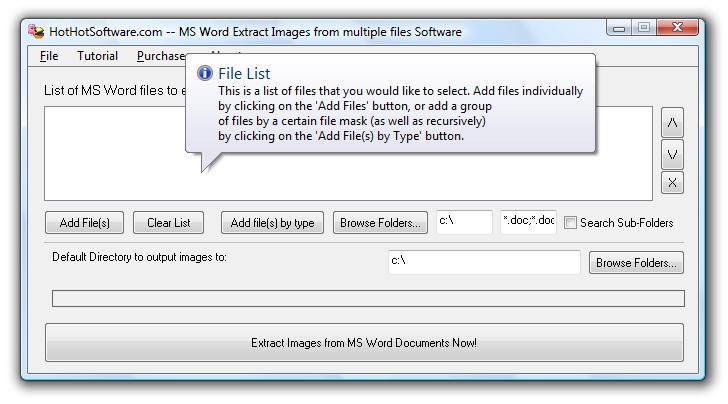 MS Word Extract Images from multiple files 9.0
