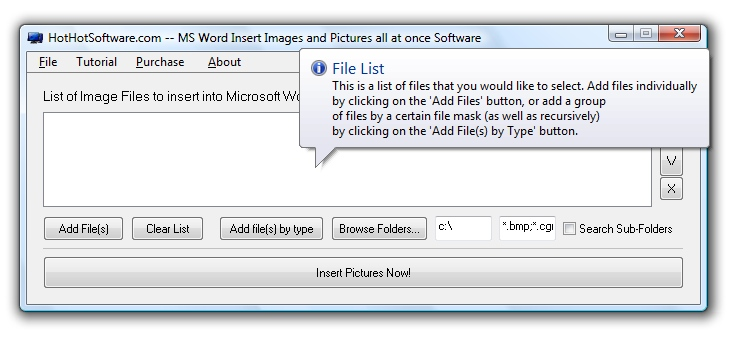 MS Word Insert Images and Pictures all at once 9.0