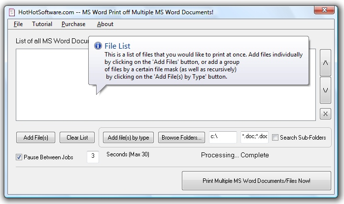 Ms word print multiple files to pdf