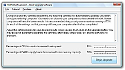 Click for a larger image of the Z Brain Upgrade software to upgrade your brain capacity and speed using your computer software!
