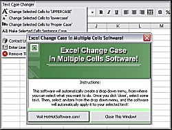 Excel change case in multiple cells to uppercase, lowercase or proper case