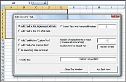 Excel Add Data Text or characters to multiple cells within a spreadsheet Software!