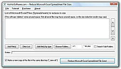 Click for a larger image of the Excel File Size Reduce File Size of Excel Spreadsheets software!