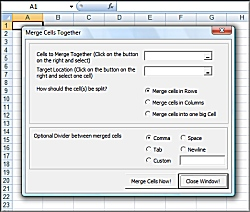 Excel Merge Cells to merge join and combine two or more cells in excel with dividers Software