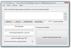 Click for a larger image of the Create Thumbnails and Thumbnail Images from Multiple Images and pictures software!